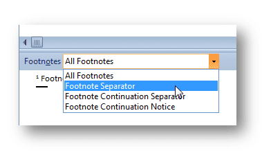 Footnote separator line