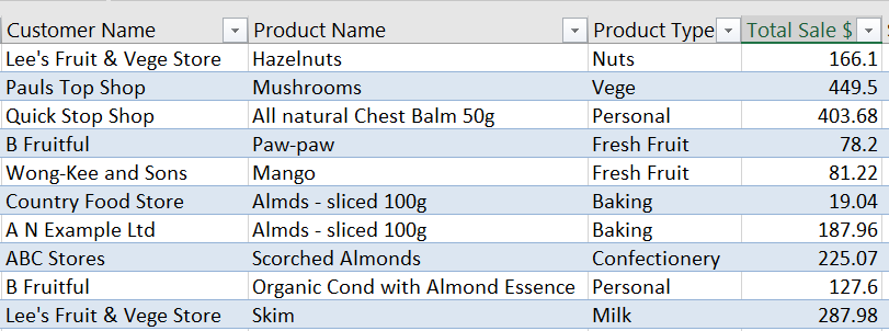 Excel Tables Freeze Panes