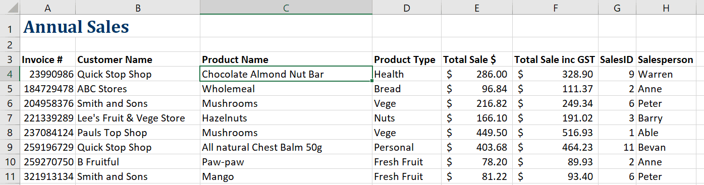 How to freeze a row in Excel 7