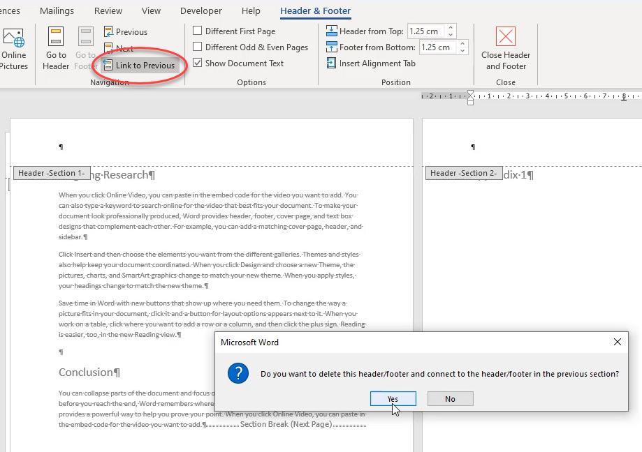 Remove page break word 6
