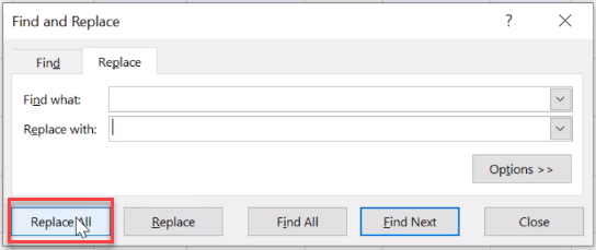 remove spaces in excel column