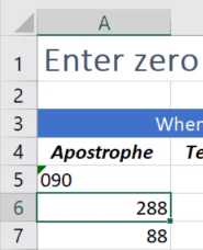 adding a zero before values