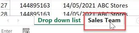 Excel create drop-down list