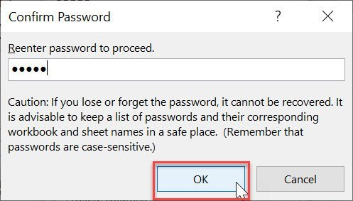 How to Protect an Excel file with password