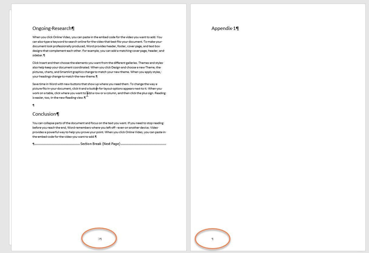 Remove extra page in Word